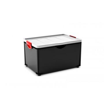 Contenitori in plastica Clipper Box XL 58 x 39 x 39 h - Grigio (3 pezzi)