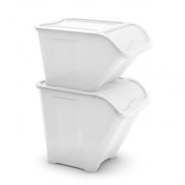 Contenitori raccolta differenziata All in Box L 54,5 x 38,5 x 32 Bianco (7 pezzi)