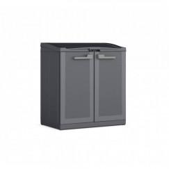 Armadio basso grigio in plastica impermeabile Evo.Ca. MOBY Compact Store Work Space