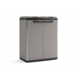 Mobile da esterno per la raccolta differenziata Split Recycling Basic 68 x 39 x 85 h Grigio