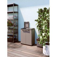 Mobile da esterno per la raccolta differenziata Split Recycling Basic 68 x 39 x 85 h Grigio