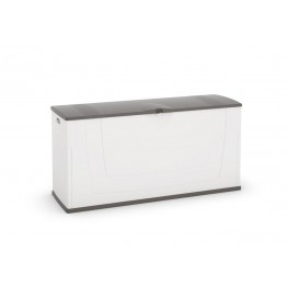 Baule cassone plastica multiuso KARISMA bianco/grigio