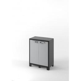 Armadio plastica EVO.CA. TITAN basso XL grigio